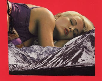 sleeping beauty - ORIGINAL COLLAGE