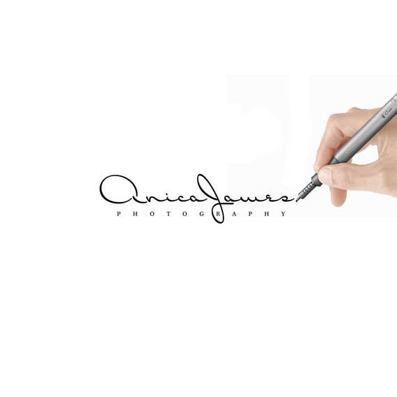 Calligraphy Logo, Text Logo, Name Logo, Font Logo, Signature Logo, Photography Script Logo, Logo, Elegant Script Logo, Blog Logo Premade