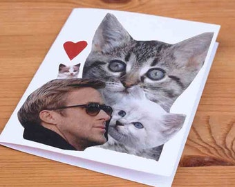 Ryan Gosling and Kittens Greeting Card