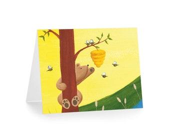 Bear Greeting Card - Bear Stationery - Woodland Blank Card
