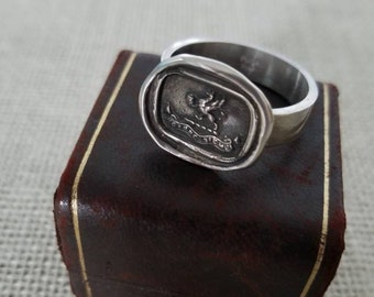 Gryphon Wax Seal Ring - Carpe Diem - Seize the Day - 401