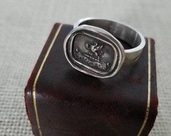 Gryphon Wax Seal Ring - Carpe Diem - Seize the Day - 401