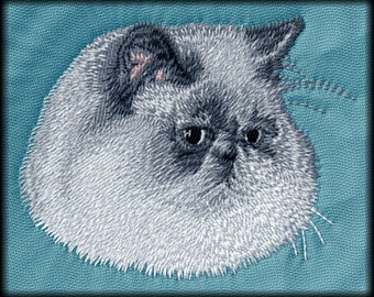 Persian Cat Embroidered Patches and Hats