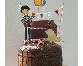 Personalized illustration for cake decorating