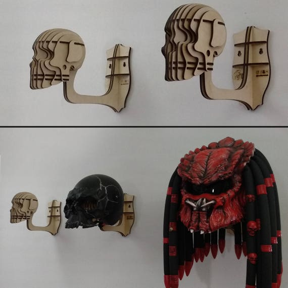 mural casque de t te de mort cintre pour casque de moto. Black Bedroom Furniture Sets. Home Design Ideas
