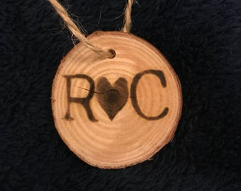 Wood Burned Ornament/Hang (Personalized)