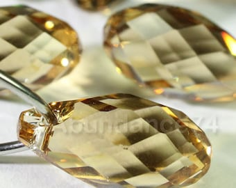 Swarovski Crystal Pendants Briolette Pendant Teardrop 6010 LIGHT COLORADO TOPAZ - Available in 11mm and 13mm ( Chose Quantity)