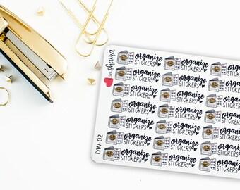 Organize Stickers | Sticker Binder, Sticker Organization, Reorganize Stickers, Sticker Sheets - Hand Drawn, Hand Lettered Planner Stickers
