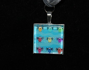 Glass Title Necklace