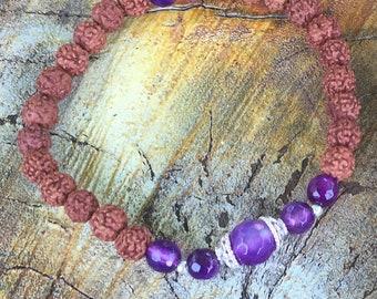 Hand Bracelet Ajna   Rudraksha Bead