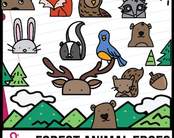 Forest Animals Edgers and Page Toppers Clip Art