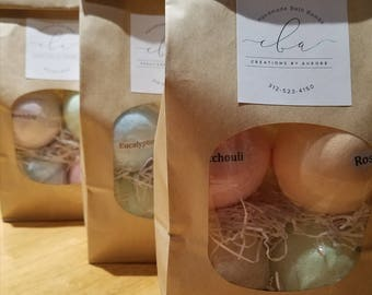 Handmade Bath Bombs Variety pack- 100% Natural