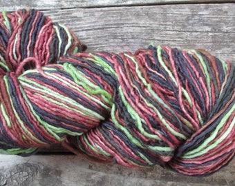 """PLAIN & FANCY Hand Dyed Fine Wool Yarn """"Jungle Green"""""""