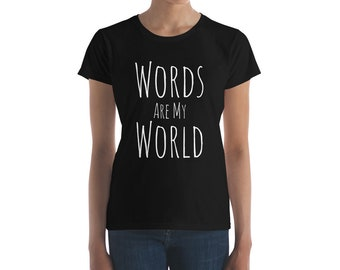 Poetry Shirt Words Are My World English Literature Poet T-Shirt