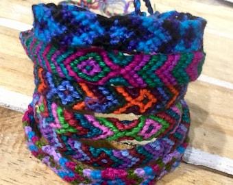 Woven Friendship Bracelets / Cotton / Handmade / Wristbands/ Boho /Fair Trade / Gift / Tribal / Ethnic
