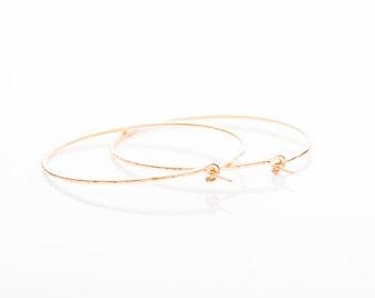 Handmade Gold Filled Medium Hoop Earrings