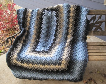 Bavarian Afghan Pattern, Pattern 25-Bavarian Rectangular Crocheted Afghan, Pattern Only, Blanket Pattern, Bavarian Afghan Pattern
