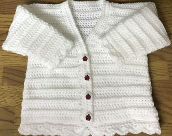PDF Instant Download Baby Crochet Cardigan Pattern in DK. Sizes Birth to 4 years (1009)