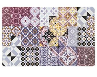 Placemat in Plum Tones Arabesque Style set of 6