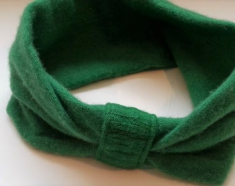 Cashmere Headband, Cashmere Ear Warmers, Upcycled Head Band 4 available