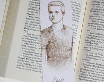 Bookmark Art drawing print peeta bookmark bookmark hunger games illustration