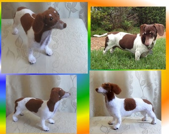 Needle Felted Custom Sculpture Dog Breed Dachshund - Woolen Copy Your Pet - Replica Animal