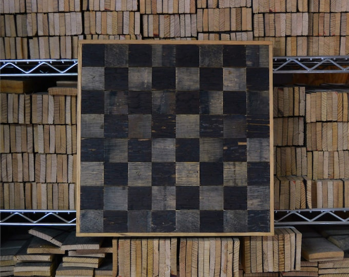 Whiskey Barrel Checkerboard