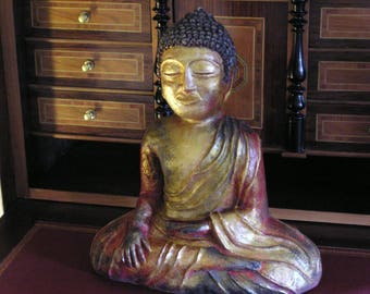 Terra cotta Buddha sculpture