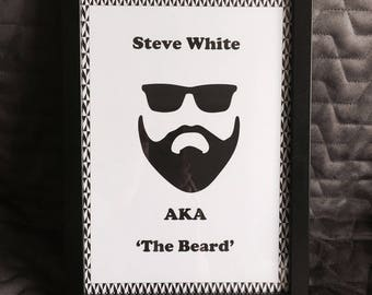 Personalised 'The Beard' Print with Frame