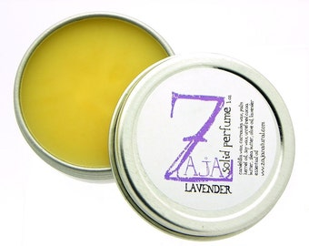 Handmade Natural Solid Perfume - Lavender by ZAJA Natural 1 oz -Vegan