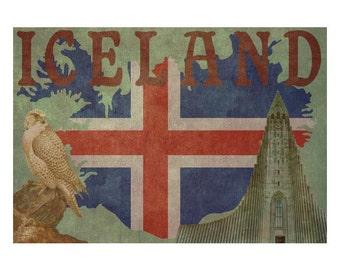 ICELAND 1FS- Handmade Leather Journal / Sketchbook - Travel Art
