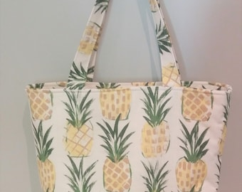Pineapple Tote Bag, Beach Bag, Teacher Tote Bag, Mother's Day Gift, Gift for Mom