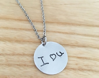 Actual hand writing necklace jewelry - engraved hand writing necklace - personalized hand writing necklace - signature necklace - signature
