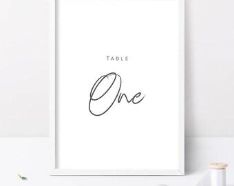 20 Wedding Table Numbers, Printable Wedding Table Numbers, Table Numbers Wedding, Table Numbers Printable, Wedding Signage, Wedding Sign