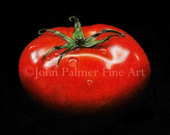 Tomato -  Greeting card from my painting of a Beefcake tomato