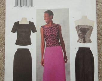 Butterick 3304 Ladies evening skirt/top ensemble   Size 14-16-18  2001
