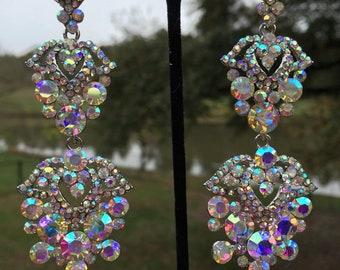 Pageant Earrings | Prom Earrings | Chandelier Earrings | Long Crystal Earrings | Statement Earrings