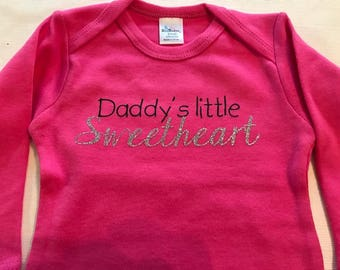 Daddy's Little Sweetheart Baby Onesie