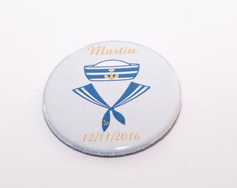 Set of 20 badges sailor boy