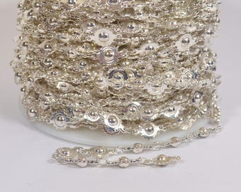 Ball and Cog Chain - Silver Plated - CH78 - Choose Your Length