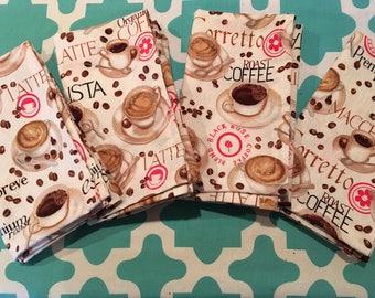 New! Coffee Etc. Napkins (set of 4)