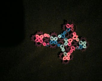 Beautifully hand tatted cross bookmark