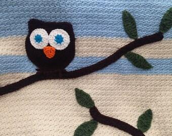 Crochet Owl Baby Blanket Pattern