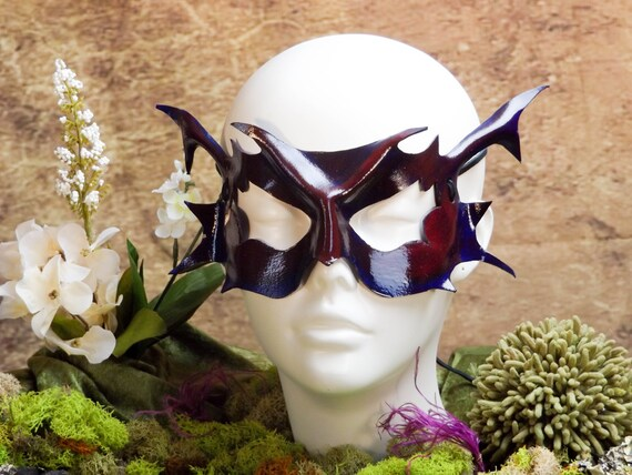 Purple Pixie Leather Mask