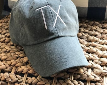 Embroidered Texas Hat, Monogrammed Texas Hat, Embroidered Hat
