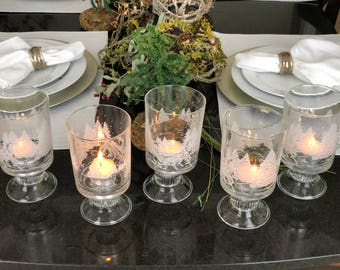 Candle holders winter