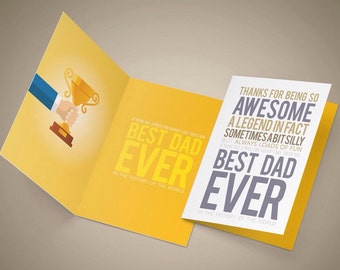 Printable, Fathers Day Card, Happy Fathers Day Digital Card, Fathers Day Printable Card, Best Dad Ever