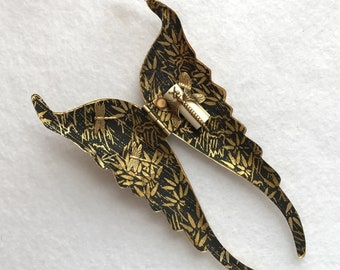Hanging Ornament, wing ornament, angel wing décor, bamboo décor, chiyogami, yuzen, prayer holder, metal wings, religious décor, gold wings