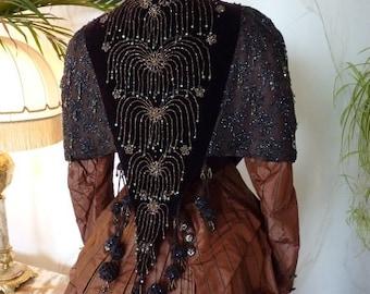 1885 MARGAINE Shoulder Cape, Antique Dress, Antique Gown, Victorian Dress, Antique Cape, Paris