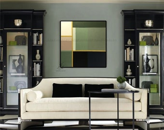 Geometric Painting Abstract Oil Painting Gold Painting Modern Art Large Wall Decor Original Abstract Painting On Canvas by Julia Kotenko